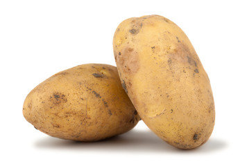 Pair of ripe potato