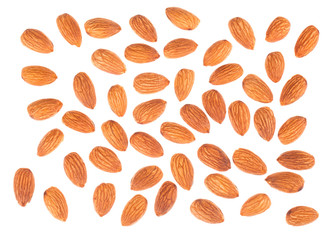 Almond nuts top view