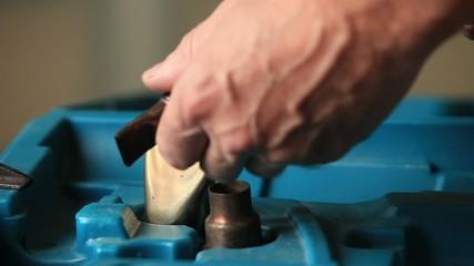 hot air gun and heat shrink tubing