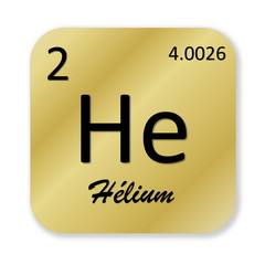 Helium element, french