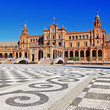 Seville, beautiful plaza Espana