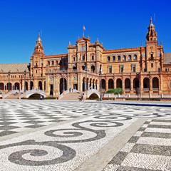 Seville, beautiful plaza Espana