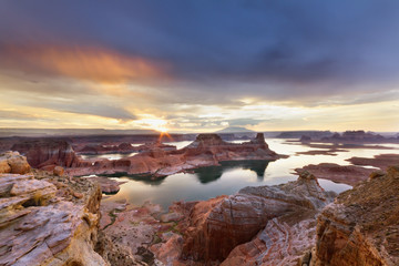 Lake Powell at Sunrise