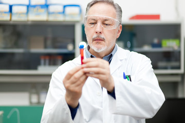 Male scientist at work in a laboratory