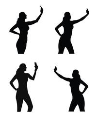 Selfie girl sillhouette