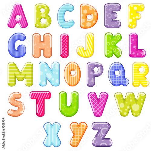 Naklejka cartoon alphabet
