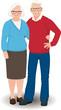Senior couple in full length