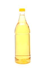 aceto in bottiglia sfondo bianco