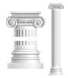 Realistic white antique column - 69210573