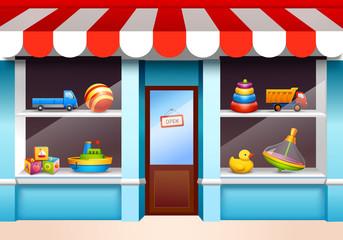 Toys shop window