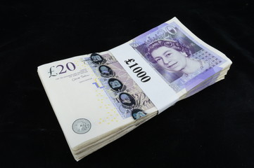 British twenty pound notes