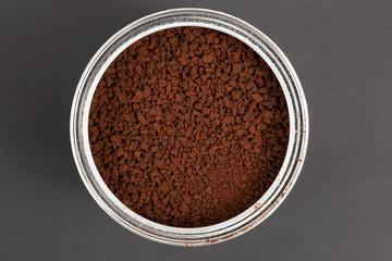 Instant coffee in aluminium container