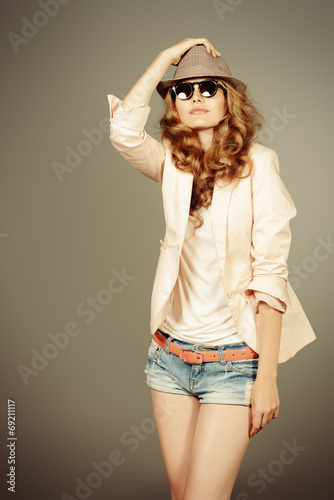 canvas print picture stylish girl