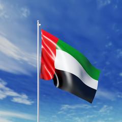 Waving  United Arab Emirates  flag