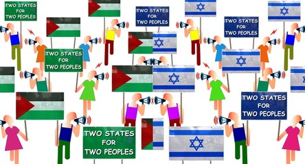 "Manifs ""Two states for two peoples"""