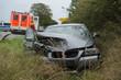 Verkehrsunfall - PKW im Graben