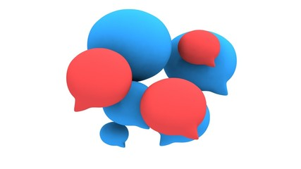 Speech bubbles pulse animation. Chat symbols