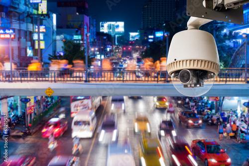 CCTV Camera or surveillance Operating on traffic road - 69212551