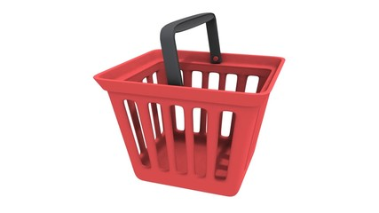 Shopping basket rotate animation. Seamless Looping