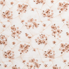 Floral Pattern, Flower Background on White Cloth
