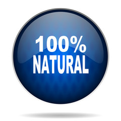100 percent natural internet icon