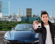 keys and rental car