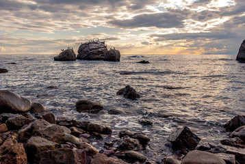 Wonderful seascape at sunset