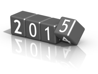 new year 2015 on grey dices