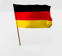 waving germany flag on the flag pole