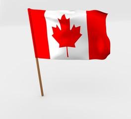 waving canada flag on the flag pole