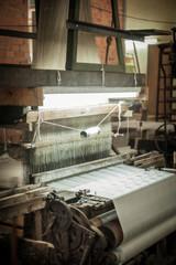 Silk loom weaving machine