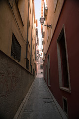 Narrow street Toledo Spain