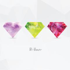 Diamonds. Polygonal geometric symbols