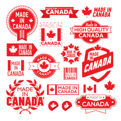 The label made ​​in Canada