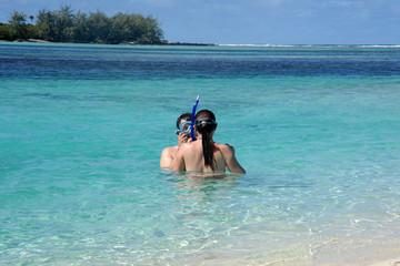 couple plongeur