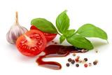 tomato, basil and balsamic vinegar