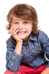 Kid posing for camera