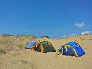 Campeggio fra le dune