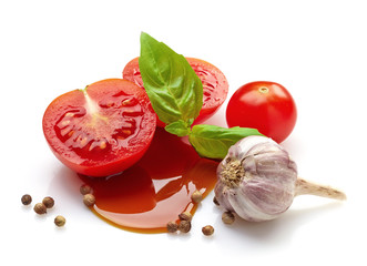 tomato, basil and balsamic vinegar