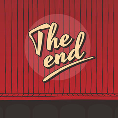 the end live stage red curtain