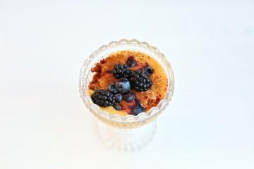 Zabaione Trifle with Blackberries and Coffee Sponge Cake