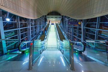 Metro station in Dubai Internet City, UAE.