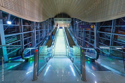 Metro station in Dubai Internet City, UAE. - 69217159