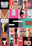 Fototapety Music vector illustration