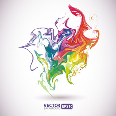 Colorful stains of paint abstract background