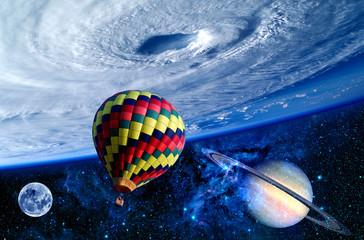 Balloon Earth Saturn