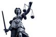 Leinwanddruck Bild - Lady Justice Stature n Germany, Frankfurt