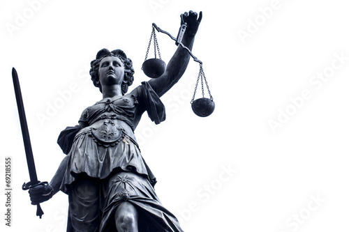 Foto op Canvas Artistiek mon. Lady Justice Stature n Germany, Frankfurt