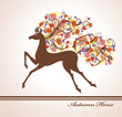 Autumn Horse.  Beautiful card with a horse.