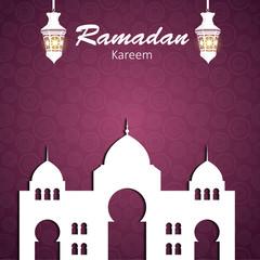 Background for Muslim Community Festival Vector Illustration